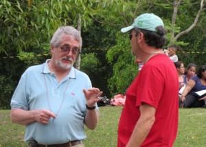 Pedro con su amigo Antonio Vadalá