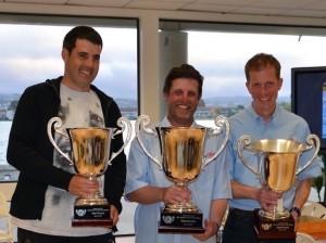 Zvonko Jelacic (3°), Brad Gibson (1°) y Peter Stollery (2°)